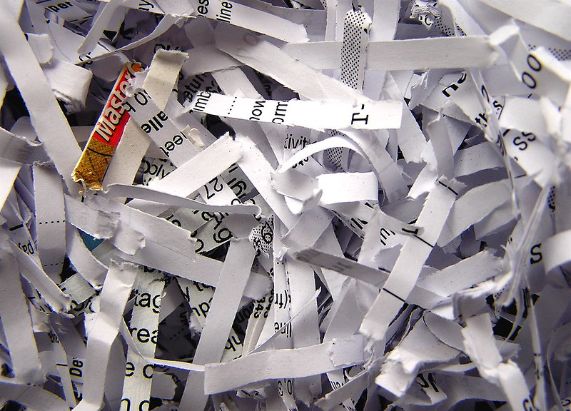 Pile of shreaded paper. Photo my Liz West.